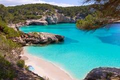 Cala Mitjaneta σε Menorca Ciutadella σε κατοίκους των Βαλεαρίδων νήσων στοκ φωτογραφίες