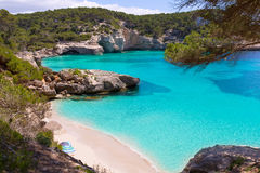 Cala Mitjaneta in Menorca Ciutadella at Balearics Stock Photos