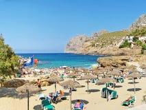 Cala Molins, beach in Cala Sant Vicenc, Majorca Stock Photos