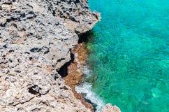 Cala Mondrago - красивые пляж и побережье Мальорки Стоковое фото RF