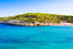 Cala Mondrago, Parque Natural de Mondrago. Santanyi. Malorca. Spain Royalty Free Stock Photography