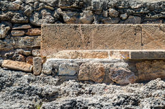 Cala Mondrago - piękna plaża i wybrzeże Mallorca, kamienny Ben Obrazy Stock