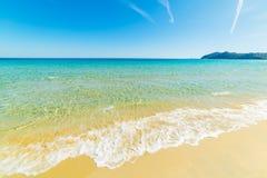 Cala Monte Turno海岸线在一个晴天 免版税库存照片