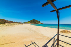 Cala Monte Turno shoreline in spring Royalty Free Stock Photos