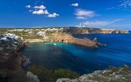 Cala Morell, Menorca, Spanien; Royaltyfria Bilder