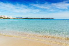 Cala Morlanda, S`Illot, Mallorca. Amazing resort with nice beach, shops or tasty restaurants. Beautiful beach in S`Illot-Cala Morlanda, Balearic islands Stock Images