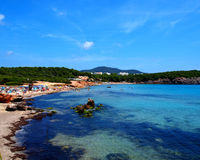 Cala Nova beach Ibiza Stock Images