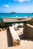 Cala Nova beach in Ibiza island in Balearic Mediterranean Stock Photography