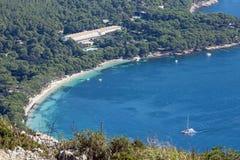 Cala pi ed hotel Formentor immagini stock