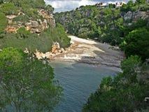 Cala Pi strand, Mallorca royalty-vrije stock foto's