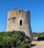Cala Pi tower. In Majorca, Balearic Islands stock photos