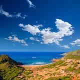Cala Pilar beach in Menorca at Balearic Islands Stock Image