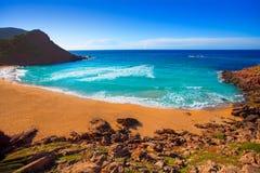 Cala Pilar beach in Menorca at Balearic Islands Royalty Free Stock Images