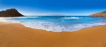 Cala Pilar beach in Menorca at Balearic Islands