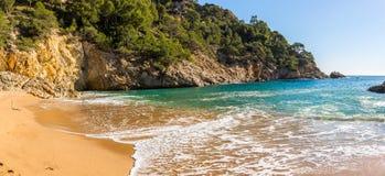 Cala Pola in Costa Brava near Tossa de Mar, Catalonia Stock Photos