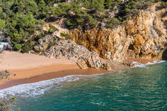 Cala Pola in Costa Brava near Tossa de Mar, Catalonia Stock Photos