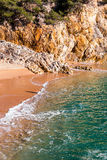 Cala Pola in Costa Brava near Tossa de Mar, Catalonia Royalty Free Stock Image