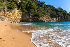 Cala Pola in Costa Brava near Tossa de Mar, Catalonia Royalty Free Stock Images