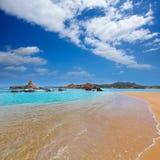 Cala Pregonda in Menorca at Balearic islands Stock Images