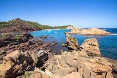 Cala Pregonda, Menorca, Spain royalty free stock photo