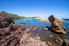 Cala Pregonda, Menorca, Spain Stock Photography