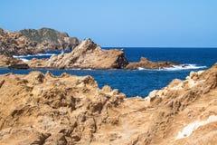 Cala Pregonda, Menorca, Spanien Lizenzfreie Stockbilder