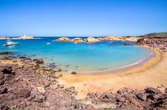 Cala Pregonda, Menorca, Spanien Stockbild