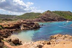 Cala Pregonda, Menorca, Spanien Lizenzfreie Stockfotografie