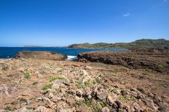 Cala Pregonda, Menorca, Spanien Stockfotografie