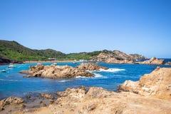 Cala Pregonda, Menorca, Spanien Stockfotos
