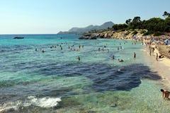 海滩Cala Rajada 库存图片