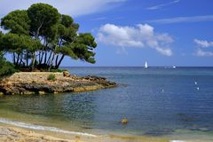 Cala Ratjada beach Rajada in Capdepera Mallorca, Spain Royalty Free Stock Images
