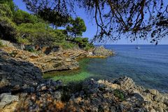 Cala Ratjada beach Rajada in Capdepera Mallorca, Spain Royalty Free Stock Photography