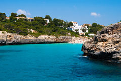 Cala Romantica bay and the beach, Majorca, Spain Royalty Free Stock Images