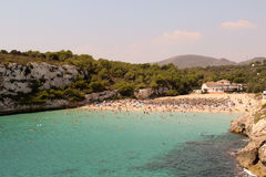 Cala Romantica beach, Majorca Stock Image