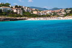 Cala Romantica coast and hotels, Majorca, Spain Stock Images