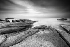 Cala Roques Planes, Black and White Royalty Free Stock Images