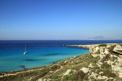 Cala Rossa in Favignana - Egadi islands Stock Image