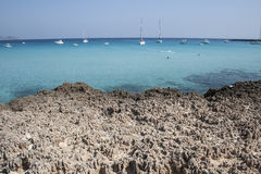 Cala Rossa in Favignana Island, Sicily. Royalty Free Stock Photo