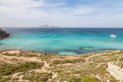 Cala rossa, Favignana, Sicily Royalty Free Stock Photos