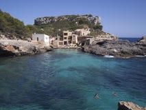 Cala Salmonia en Majorca, España Foto de archivo libre de regalías