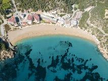 Cala San Vicente, Ibiza, Espanha imagem de stock royalty free