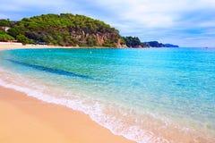 Cala Santa Cristina παραλία Lloret de Mar Κόστα Μπράβα στοκ εικόνες