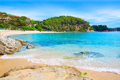 Cala Santa Cristina beach Lloret de Mar Costa Brava Royalty Free Stock Photo
