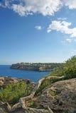 Cala Santanyi baai Majorca Stock Foto's
