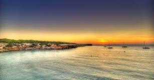 Cala Saona海滩在Formentera 库存图片