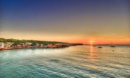 Cala Saona海滩在Formentera 免版税库存照片