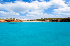 Cala Saona beach in Formentera Balearic islands Royalty Free Stock Images