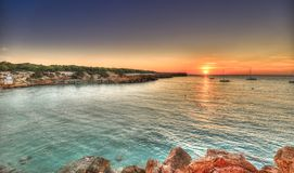 Cala Saona beach in Formentera stock photography