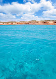 Cala Saona beach in formentera with fishes Stock Photos